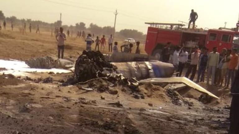 राजस्थान के बीकानेर में वायुसेना का मिग 21 क्रैश