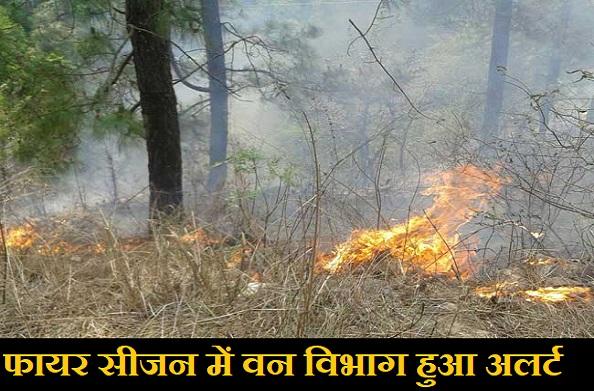 जंगलों में लगने वाली आग को लेकर वन विभाग हुआ अलर्ट