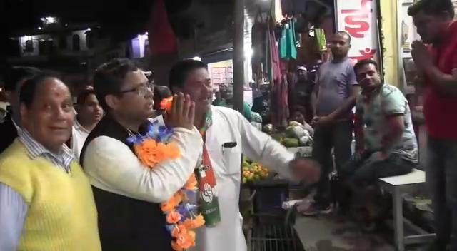 रुद्रप्रयाग: कांग्रेस प्रत्याशी मनीष खण्डूडी ने लोगों से कांग्रेस पक्ष में वोट करने की अपील की