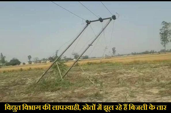 खटीमा: यहां खेतों में झूल रही है 11 हजार बोल्ट की विद्युत लाइन