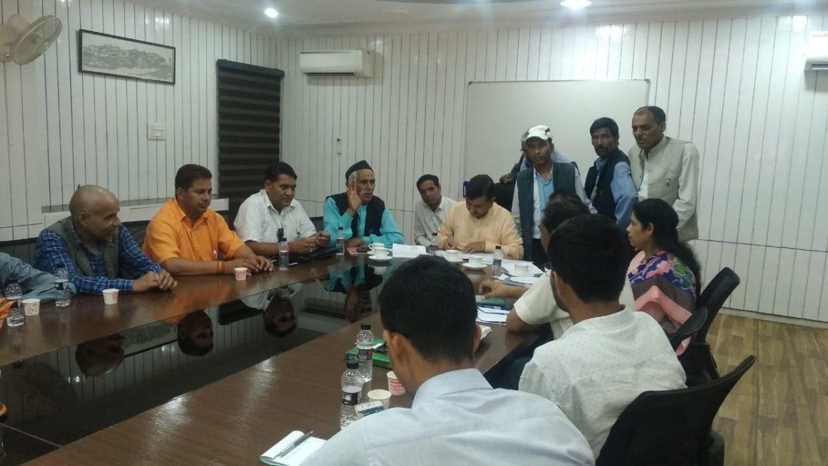 राज्य मंत्री महाबीर रांगड़ ने वन विभाग के साथ की बैठक