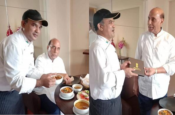 बैंकाॅक में रूद्रप्रयाग के विरेंद्र रावत ने बढ़ाया रक्षा मंत्री राजनाथ सिंह की थाली का जायका…