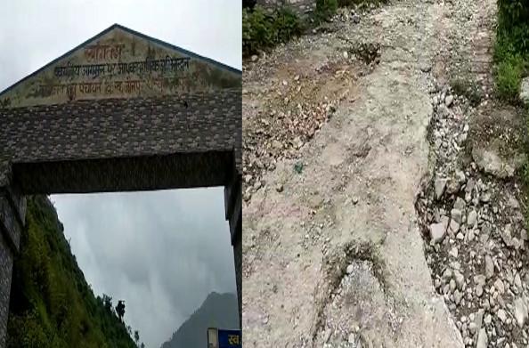 धनोल्टी: मुख्यालय थत्यूड़ को जाने वाले मार्ग की हालत खस्ता, एक साल से उखड़ी पड़ी है सड़क