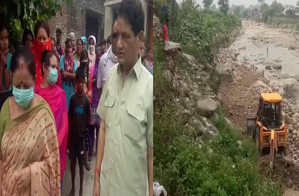 कोटद्वार: नगर निगम ने ली ग्रामीणों की सुध, आपदा से बचाव के लिए जेसीबी लगाकर किया मलबे का निस्तारण