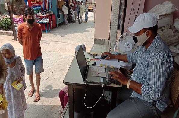 हरिद्वार: कोरोना महामारी में बायोमेट्रिक मशीन से सुरक्षा
