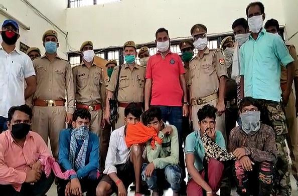 कौशांबी:एसओजी की टीम ने मुठभेड़ के दौरान सात अंतर्जनपदीय चोरों को किया गिरफ्तार