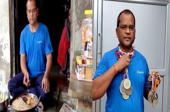 बाराबंकी: पकौड़े तलने को मजबूर राष्ट्रीय खिलाड़ी, कोरोना के चलते छिन गया रोजगार