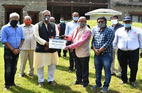 सीएम रावत ने लिया फिल्म 'कुतुब मीनार' का मुहूर्त शॉट