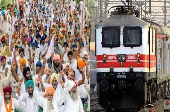 भारत बंद: किसानों का रेल रोको अभियान, पंजाब और हरियाणा में पटरी पर डटे किसान