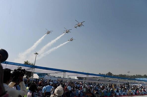 वायुसेना का 88वां स्थापना दिवस, हिंडन एयरबेस पर लड़ाकू विमानों ने दिखाई ताकत