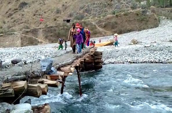 शर्मनाकः 2013 में बह गया था ओडार गांव का पुल आज तक नहीं बना
