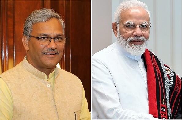 दिल्ली में प्रधानमंत्री नरेन्द्र मोदी से मिले मुख्यमंत्री त्रिवेन्द्र, चमोली आपदा को लेकर हुई बात
