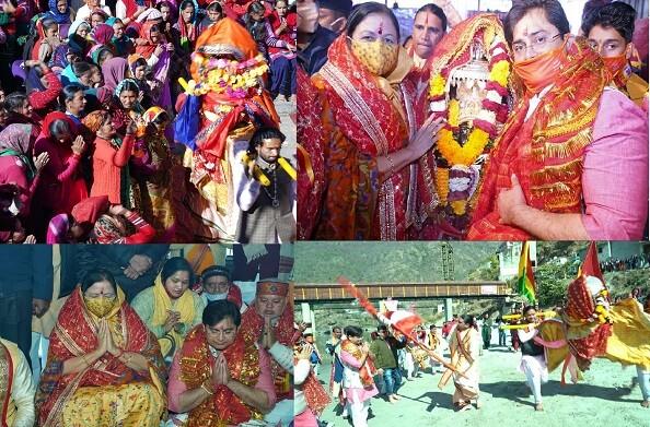 हंस फाउंडेशन ने किया मां धारी देवी डोली की 21 दिवसीय यात्रा का शुभारंभ