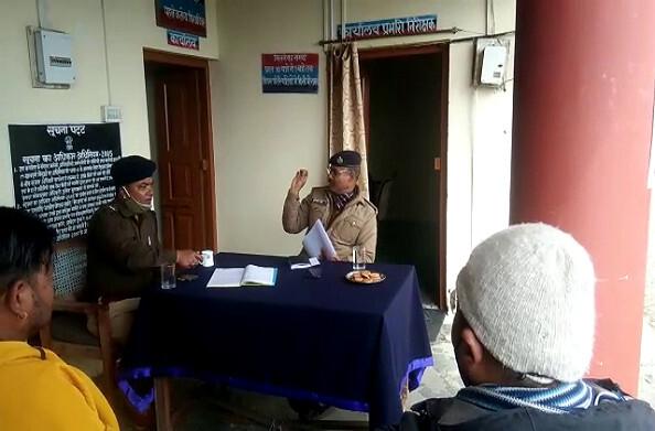 मुनस्यारी पहुंचकर पिथौरागढ़ एसपी ने ली बैठक