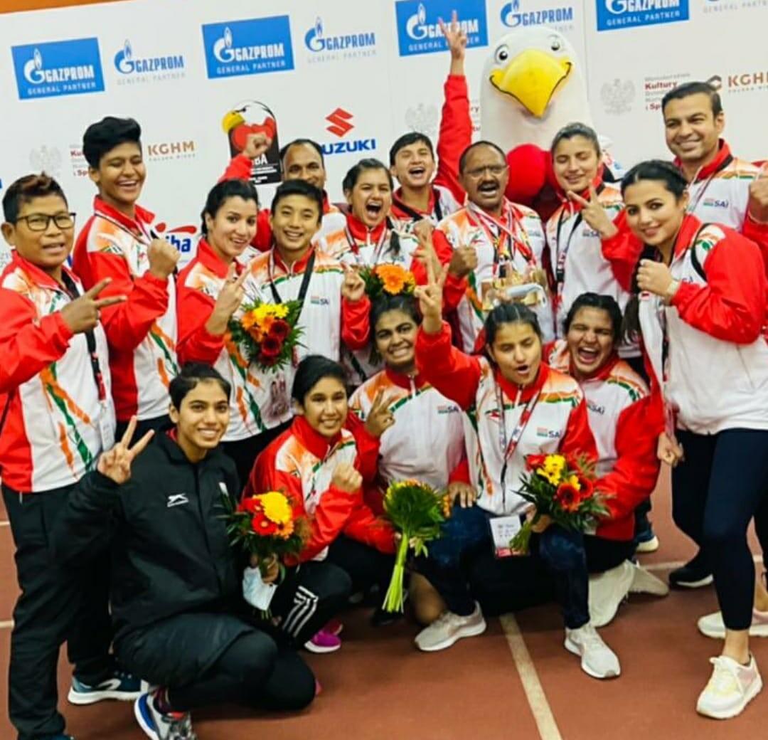 भारतीय यूथ वूमैन बाॅक्सिंग टीम ने Kielce, Poland (किल्से, पौलेण्ड) में वल्र्ड चैम्पियनशिप पर किया कब्जा