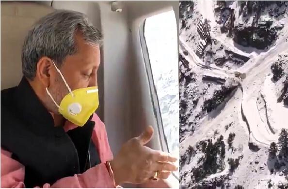 जोशीमठ के पास ग्लेशियर टूटा, अबतक 384 लोगों का रेस्क्यू, मुख्यमंत्री ने किया हवाई निरीक्षण