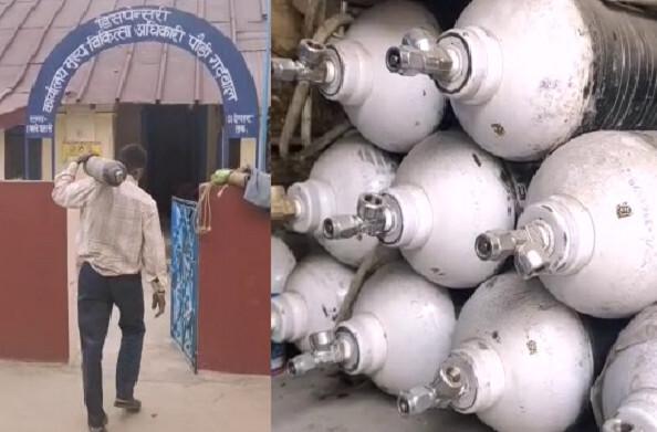पौड़ी: बढ़ते कोरोना संक्रमण के चलते बढ़ाई गई ऑक्सिजन सिलेंडर की स्टोरेज क्षमता, फिल्हाल जिले में स्वास्थ विभाग के पास 476 ऑक्सिजन सिलेंडर