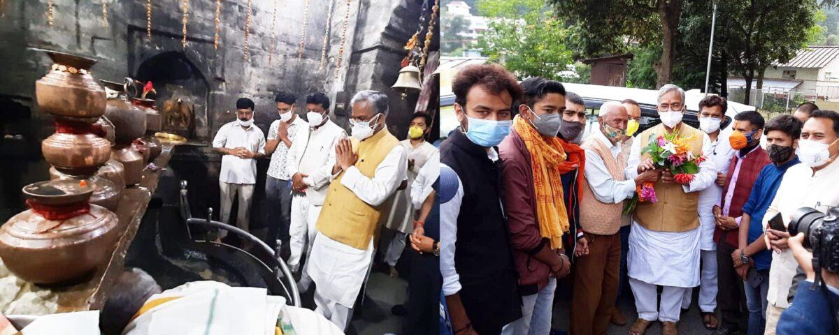 पूर्व सीएम त्रिवेन्द्र रावत का कुमाऊं का चौथा दिन,प्रसिद्ध बागनाथ मंदिर में भगवान शिव से की सभी की खुशहाली के लिए प्रार्थना