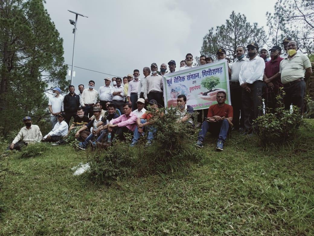 हरेला सप्ताह में पूर्व सैनिक संगठन, पिथौरागढ़ द्वारा भी बढ़-चढ़कर लिया गया भाग