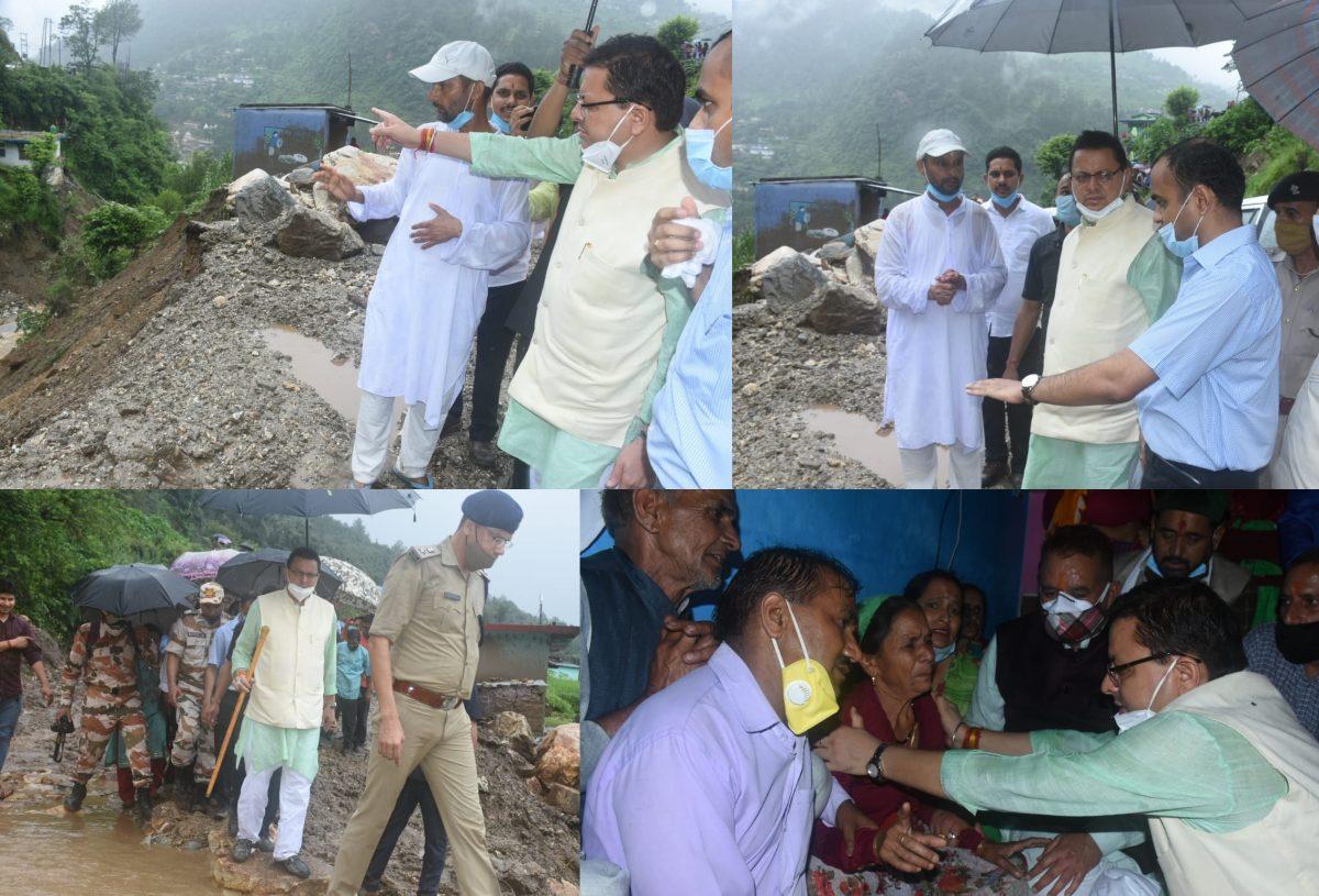 मुख्यमंत्री ने किया उत्तरकाशी के आपदा ग्राम क्षेत्रों का भ्रमण, पुलों व आंतरिक मार्गो के पुनर्निर्माण के दिये निर्देश