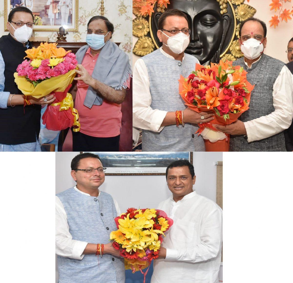 मुख्यमंत्री ने नई दिल्ली में अनिल बलूनी, अजय भट्ट और रमेश पोखरियाल निशंक से की मुलाकात