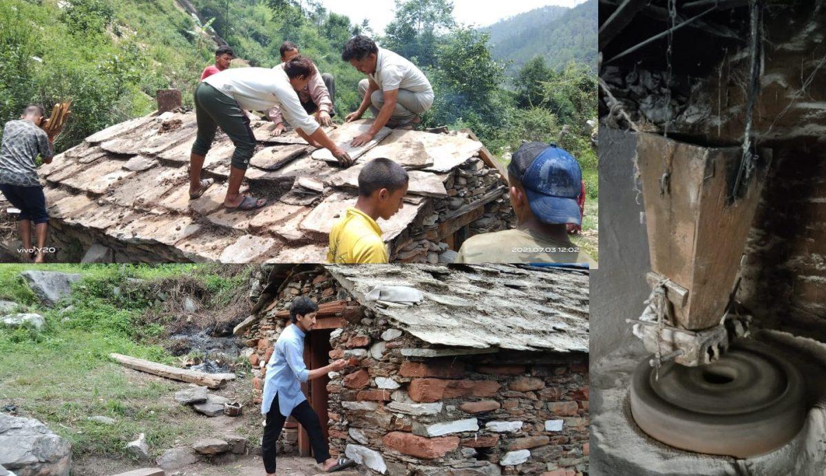 बागेश्वर : ग्रामीणों ने किया पहाड़ की पौराणिक विरासत घराट का जीर्णोद्धार
