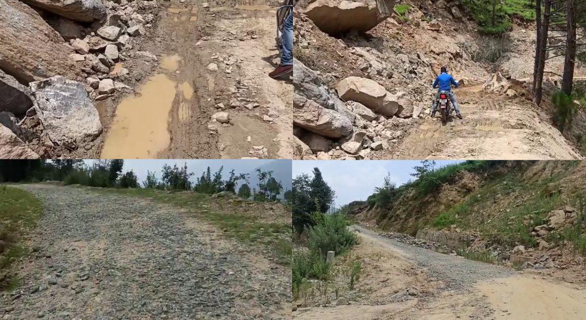 चमोली- थराली के तलवाड़ी से सेरा-विजयपुर मोटरमार्ग पर चल रही अनियमितताएं ग्रामीणों के लिए बनीं जी का जंजाल