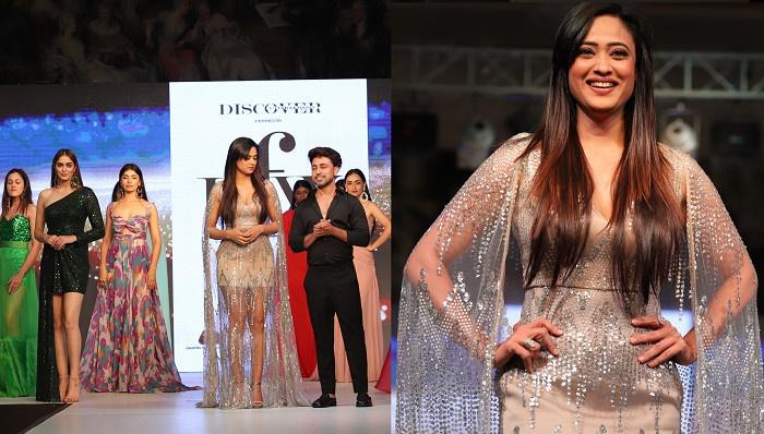 देहरादून- 'उत्तराखंड फैशन वीक' में शो स्टॉपर रहीं अभिनेत्री श्वेता तिवारी