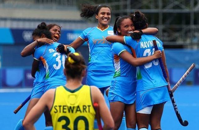 टोक्यो ओलंपिक : भारतीय महिला हॉकी टीम ने रचा इतिहास,ओलंपिक के सेमीफाइनल में बनाई जगह