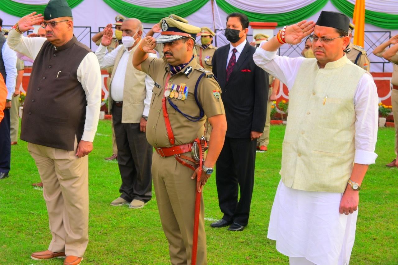 पुलिस स्मृति दिवस के अवसर पर मुख्यमंत्री धामी ने शहीद पुलिस जवानों को दी श्रद्धांजलि